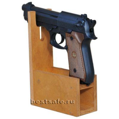 Деревянный ложемент на 1 пистолет и обоймы