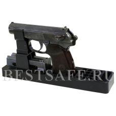 Ложемент пластиковый под пистолет Макарова и аналоги с возможностью хранения двух обойм и 16 патронов.