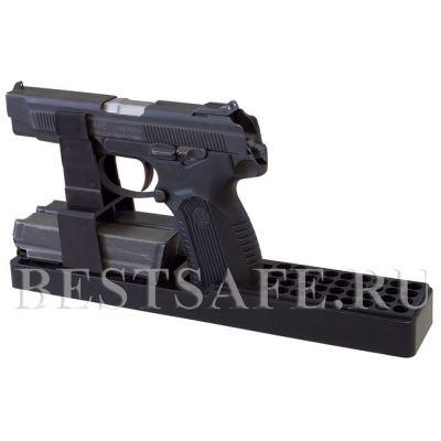 Ложемент пластиковый под пистолет Ярыгина и аналоги с возможностью хранения двух обойм и 36 патронов.