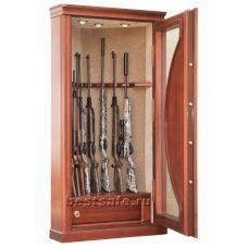 Угловой оружейный сейф с бронестеклом AMW8-corner