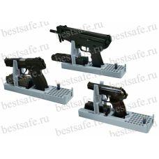 Универсальная подставка под пистолеты ПМ, ПЯ и пистолеты-пулеметы Кедр и аналоги, с возможностью хранения 2-х обойм и 42 патрона.
