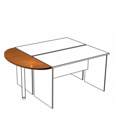Приставка к столу B.152 орех